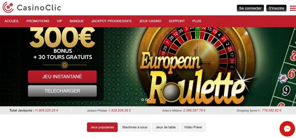 retrait clic casino